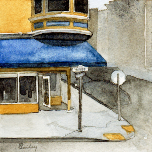 Watercolor Painting, Hayes Corner, Brian Bailey