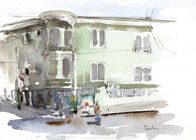 Watercolor Painting, Haight