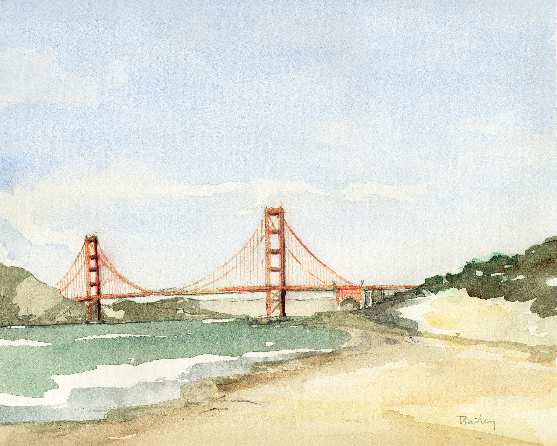 Golden Gate Bridge The Art Of Brian Diagram By Bailey