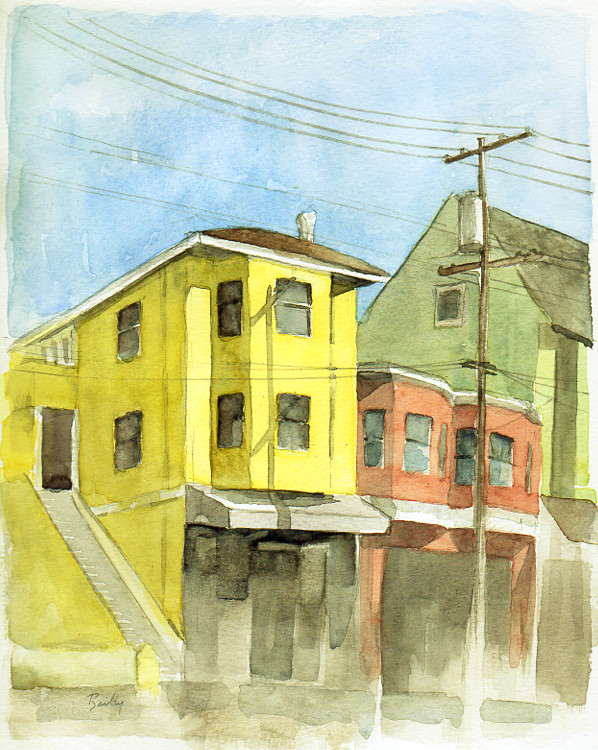 Bright Light on Cole, Watercolor by Brian Bailey