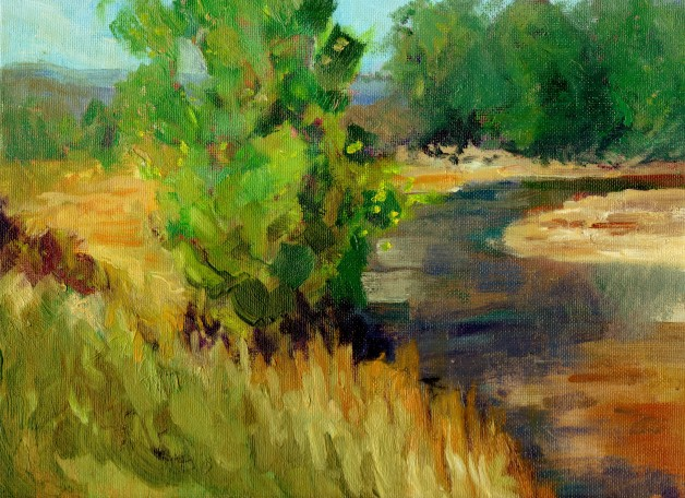 "Brian Bailey, Rock Creek, Oil on Canvas, 9"" x 12"" © 2016"